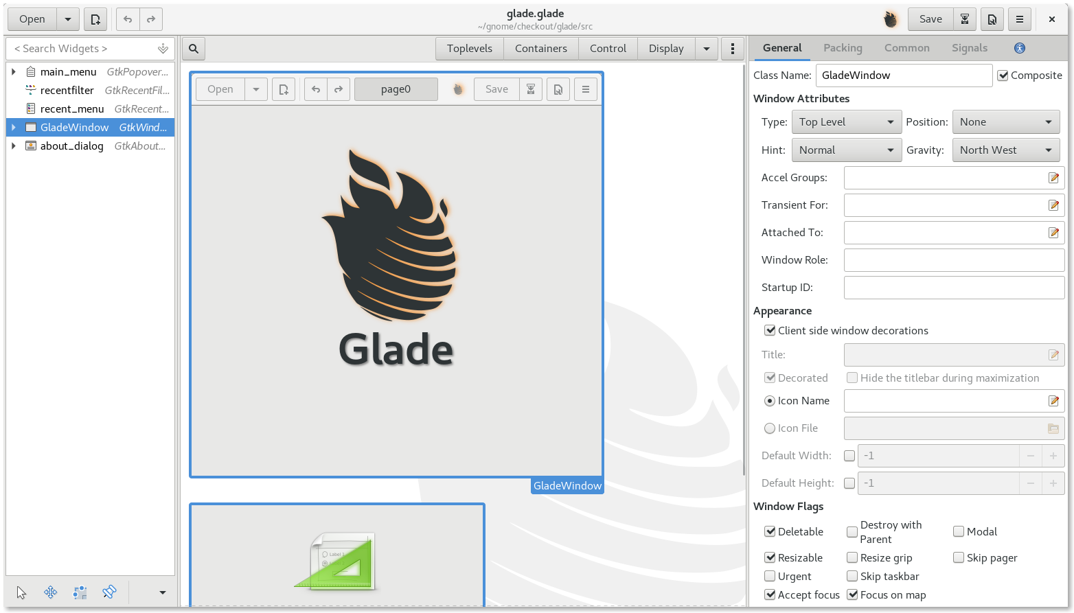 Integration of Glade and GTK